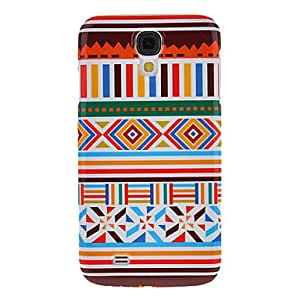 Nsaneoo - Color-Bar Pattern Protective Hard Back Cover Case for Samsung Galaxy S4 I9500