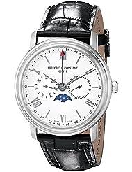 Frederique Constant Mens FC270SW4P6 Business Time Analog Display Swiss Quartz Black Watch