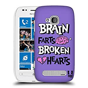 Head Case Designs Brain Farts Most Unfortunate Fools Protective Snap-on Hard Back Case Cover for Nokia Lumia 710