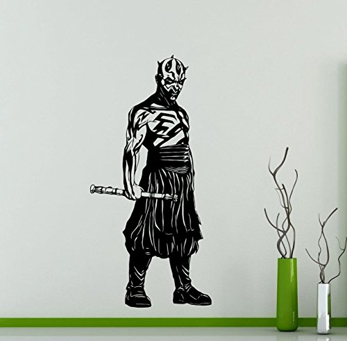 Darth Maul Star Wars Wall Decals Poster Vinyl Sticker Home Teen Star Wars Characters Devil Sith Lord Kids Room Nursery Art Decor Stencil Mural -