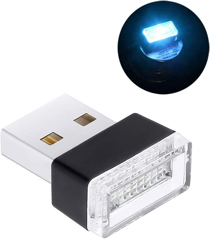 Yellow Home Computer and Other USB Jack Scene LED,Car USB Simple Portable Color Atmosphere Lights Portable,2g Compact