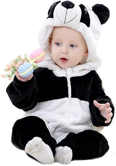 Pijama de oso panda - pijama - niño - niña - sin pies - forro ...