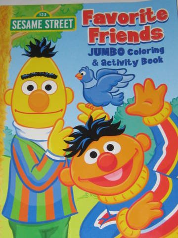 Price comparison product image Sesame Street Jumbo Coloring & Activity Book ~ Favorite Friends