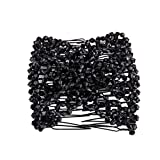 Hot Sale! Hongxin Clearance Fashion Ladies Magic Beads Elasticity Double Hair Comb Clamp Stretchy Accessory Creative Gift for Her (H)