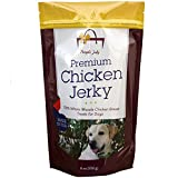 Organic Premium Chicken Jerky Dog Treats. Made in USA. Grain Free, All Natural, 1 Ingredient, USDA Grade A Chicken Breast. Pet Training Thick Jerky Chew. No Preservatives, No Soy, Gluten Free