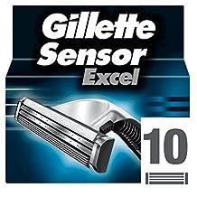 Gillette Sensor Excel for Men Refill Razor Blade Cartridges - 10 pack