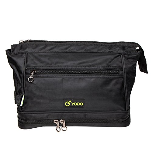 Freeprint Spacious Water-resistant Travel Toiletry Bag Dopp Kit for Men and Women, Black by Freeprint (Image #7)