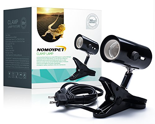 NOMOYPET Clamp Lamp Fixture for Reptiles. Adjustable Habitat Lighting & Heat Lamps Holder Stand from NOMOYPET