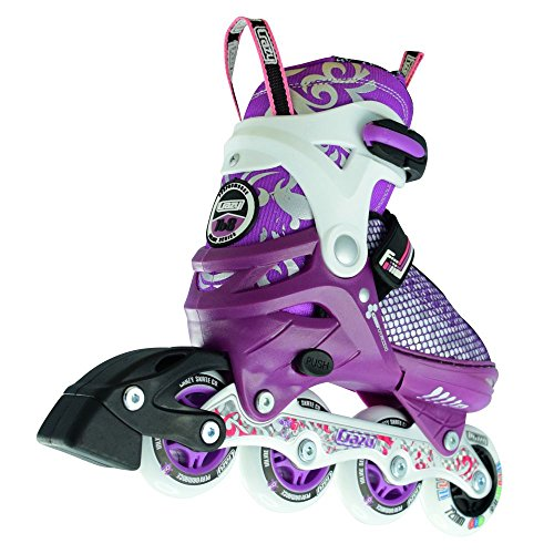 Available in Two Colors Roller Blades for Girls and Boys Crazy Skates Adjustable Inline Skates with Light Up Wheels Model 168