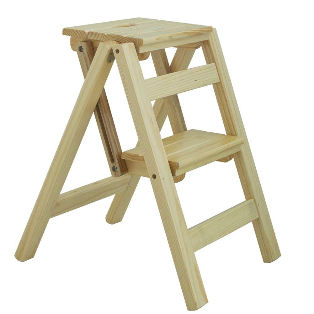 ZENGAI ステップスツール 家庭 多機能 折りたたみ梯子 絶縁 二段はしご フラワースタンド さび止め 、 無垢材 (色 : A, サイズ さいず : 38x46x50cm) B07Q29DRNV A 38x46x50cm