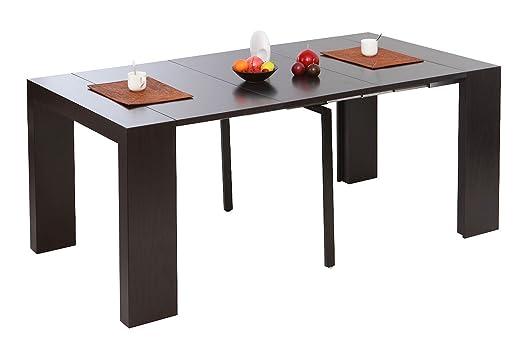 Miliboo - Mesa consola extensible color chocolate CALEB: Amazon.es ...