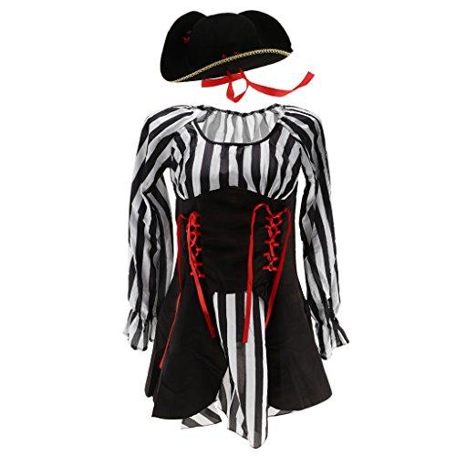 con Vestido Fiesta Vendaje de Capitán Sombrero de Roja Bachelorette Cinta Baoblaze H5wOZxH