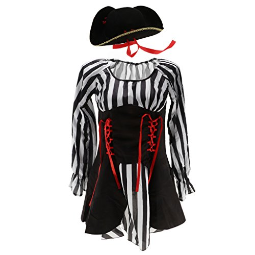 Sombrero Vendaje Bachelorette de Fiesta Capitán Roja Baoblaze Vestido con Cinta de Sq66Rw