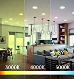 OSTWIN 4 Inch Ultra-Thin LED Recessed Ceiling Light with J-Box, 3000K, 12W (60 Watt Repl) Dimmable Can-Killer Downlight, IC Rated 900LM High Brightness (4 Pack) ETL and Energy Star Certified
