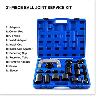 Orion Motor Tech 22PCS Master Ball Joint Press | Upper and Lower Ball Joint Removal Tool | Automotive Mechanic Tool Set: Automotive