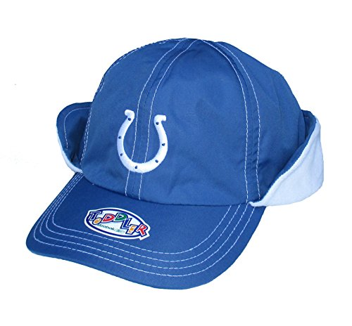 Indianapolis Colts Infant One Size Fits All Fleece Lined Performance Ear Flap Hat / Cap - Toddler OSFA Team ()