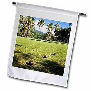 Danita Delimont–Fiji–bienes de bolos de césped, Taveuni, Taveuni, Fiji–OC01DPB0056–Douglas Peebles–18x 27inch jardín bandera (FL 84793_ 2)