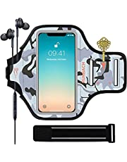 RUNBACH iPhone 11/12/12 Pro/iPhone XR Armband,Sweatproof Running Exercise Bag with Fingerprint Touch and Card Slot for 6.1 Inch iPhone 11,12,12 Pro,XR(Black)