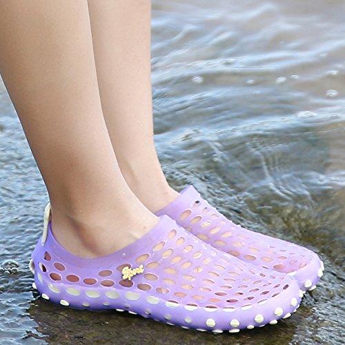Xing Lin Sandalias De Hombre Nuevas Sandalias Hombre De Baotou Zapatillas Hembra De Plástico Antideslizante Orificio Sandalias De Verano Transpirable Zapatos Calzado De Playa Hombres purple