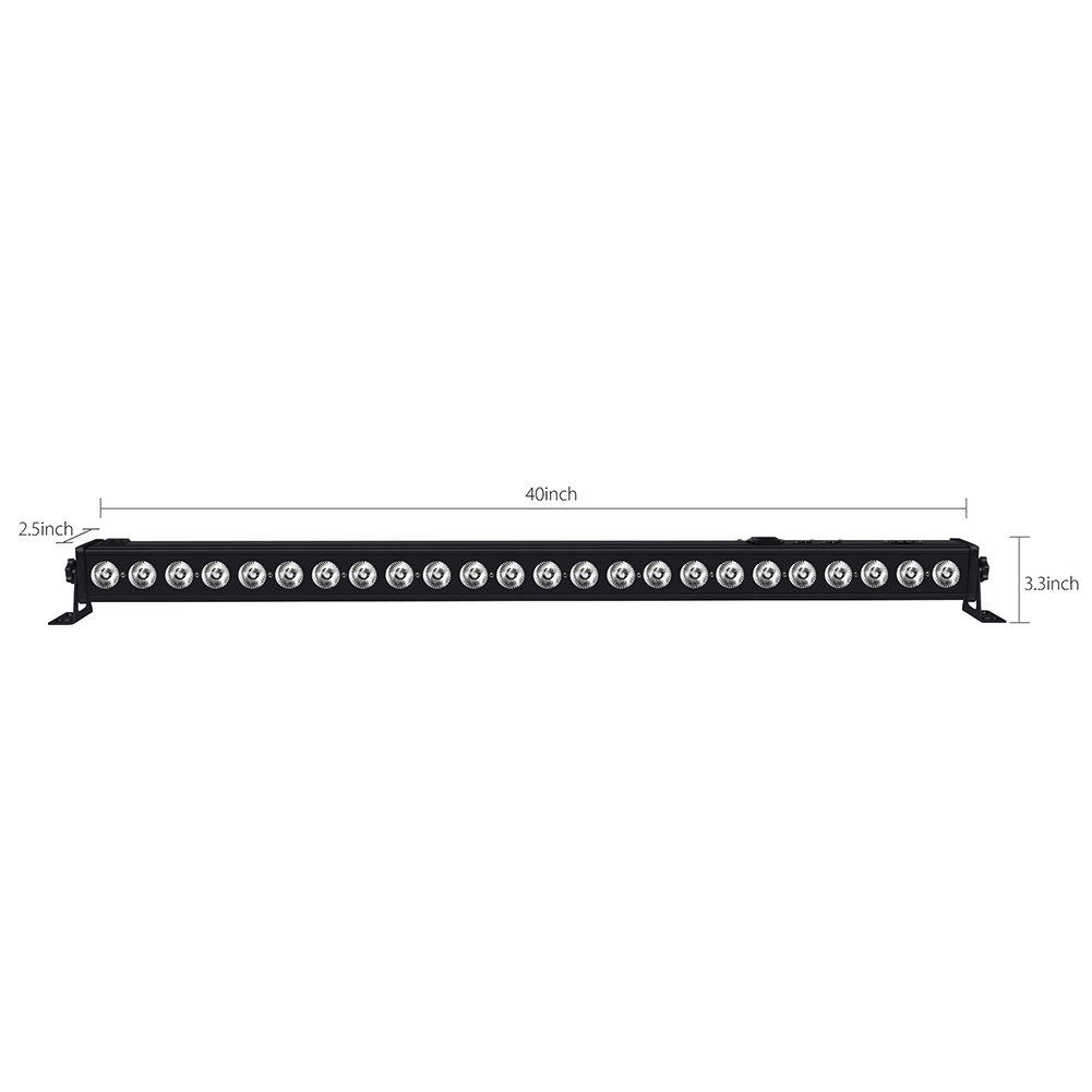 Stage Lights, OPPSK 72W 24LED Wash Lights Bar DMX Control Auto Play Sound Activated with RGB Tricolors for Wedding Birthday Christmas New Year Party DJ Stage Lighting by OPPSK (Image #7)