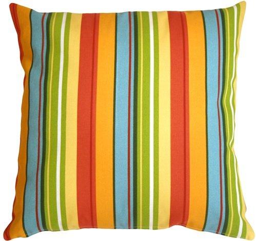 - PILLOW DÉCOR Bistro Stripes Azalea 20x20 Outdoor Pillow