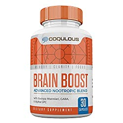 Brain Supplement - Nootropic, Brain Boost With Gaba Supplement - By Coqulous