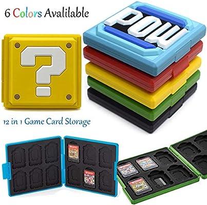 XuBa - Caja de Almacenamiento portátil para Nintendo Switch Games Nintendo Switch NS Accessories Rojo Rosso: Amazon.es: Informática