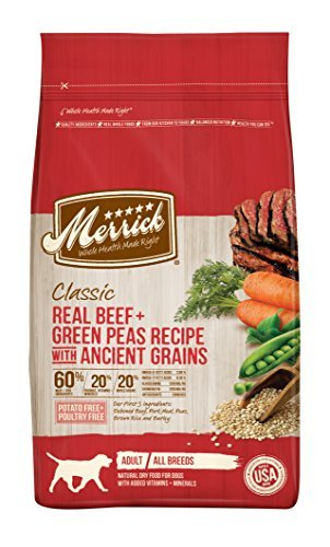 Merrick 1 Count Classic Real Beef + Green Peas Recipe with Ancient Grains, 25 lb by Merrick