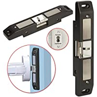Electric Strike Lock, ZOTER NC/NO Mode Electric Door Lock for Push Bar Rod Fire Exit Device Emergency Door for Access Control Security