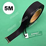 "SUNDELY Black Color Hot Melt Seam Sealing Tape Roll 0.8"" X 16' (20mm Wide X 5m) with 3 Layer for Waterproof Fabrics Sportswear"