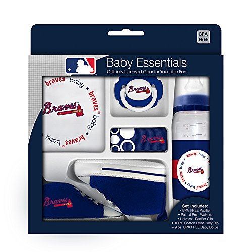 Baby Fanatic 5 Piece Gift Set, Atlanta Braves -