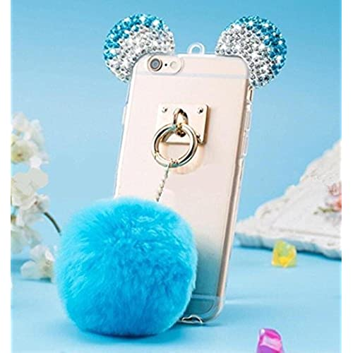 Samsung Galaxy S7 Edge Case,Galaxy S7 Edge Plush Ball Diamond Ear Cover,Blixy Trendy Bling Crystal Mouse Ear Plush Sales