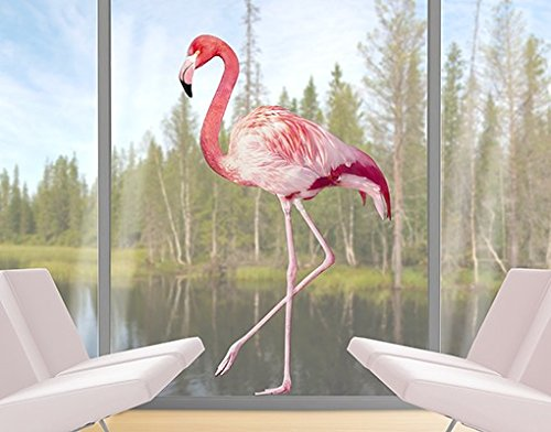 Window Sticker pink Flamingo window film window tattoo glass sticker window art window décor window decoration window picture Size: 79.5 x 47.2 inches by PPS. Imaging