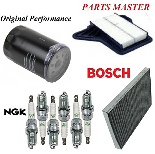 8USAUTO Tune Up Kit Air Cabin Oil Filters Spark Plug Fit CHRYSLER PACIFICA V6; 4.0L 2007-2008