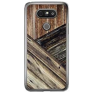 Loud Universe LG G5 Madala N Marble A Wood 8 Printed Transparent Edge Case - Brown