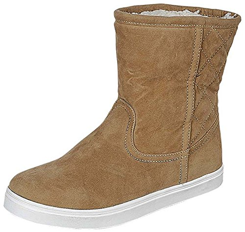 Refresh Footwear Women's Closed Round Toe Faux Shearling Mid-Calf Boot (8.5 B(M)...