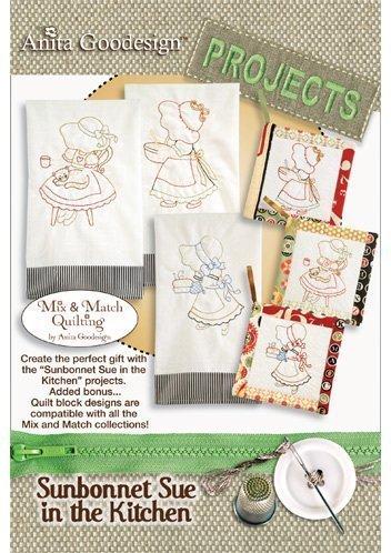 Anita Goodesign Embroidery Machine Designs CD SUNBONNET SUE IN THE KITCHEN