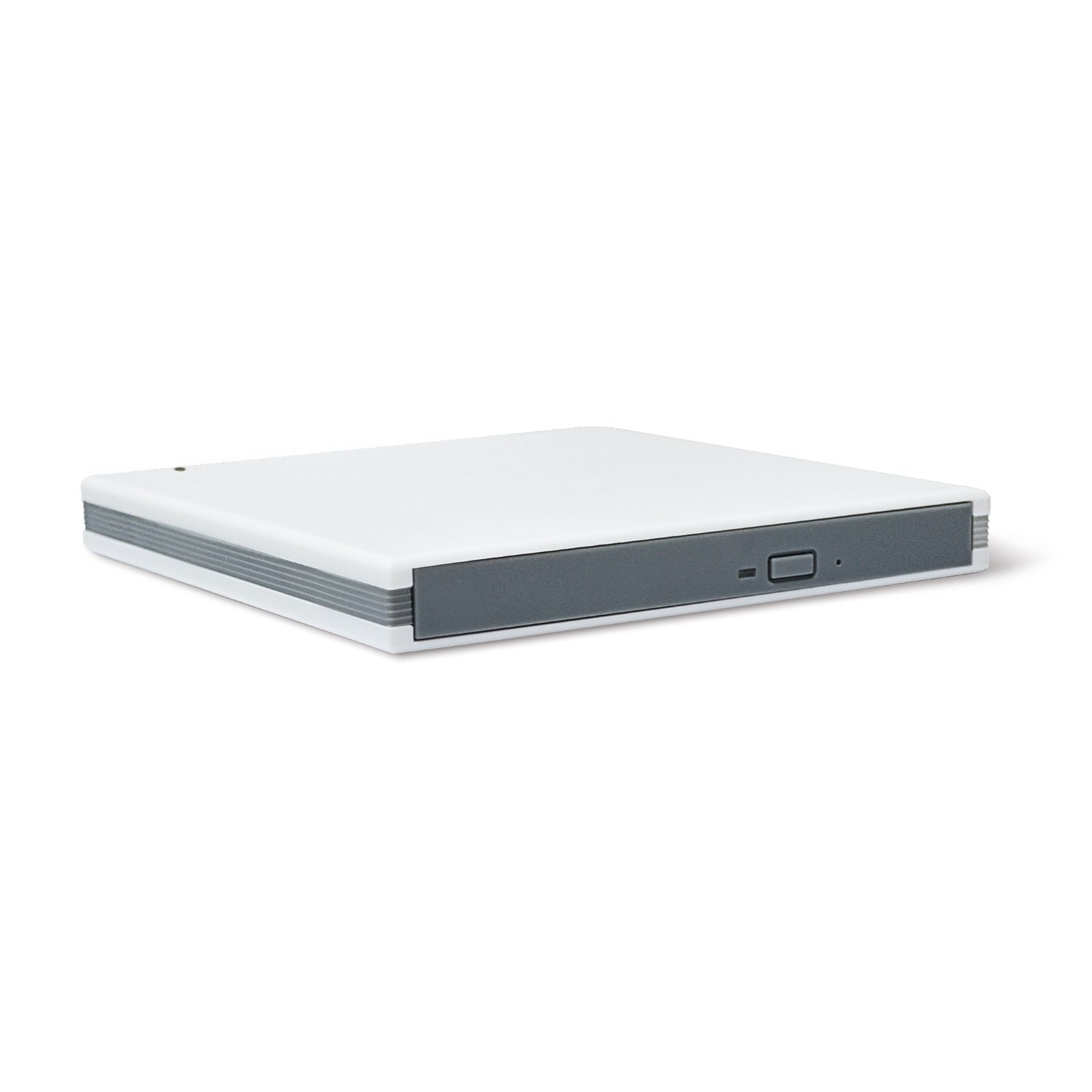 Firstcom USB 3.0 Carcasa/Case para Slim 12,7 mm SATA Blu-ray/DVD/CD unidad admitidas blanco y gris