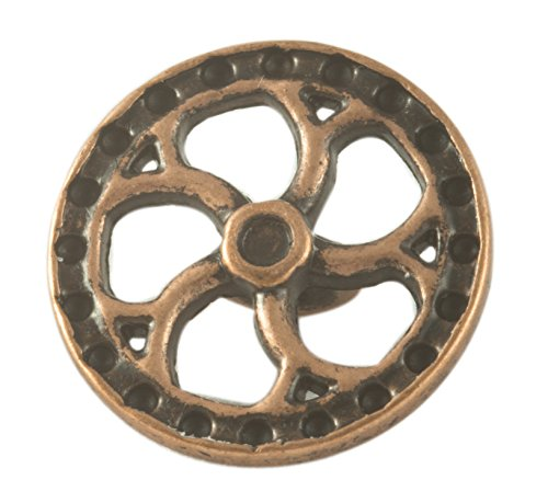 Steampunk Flywheel Button - Copper Finish - 5/8