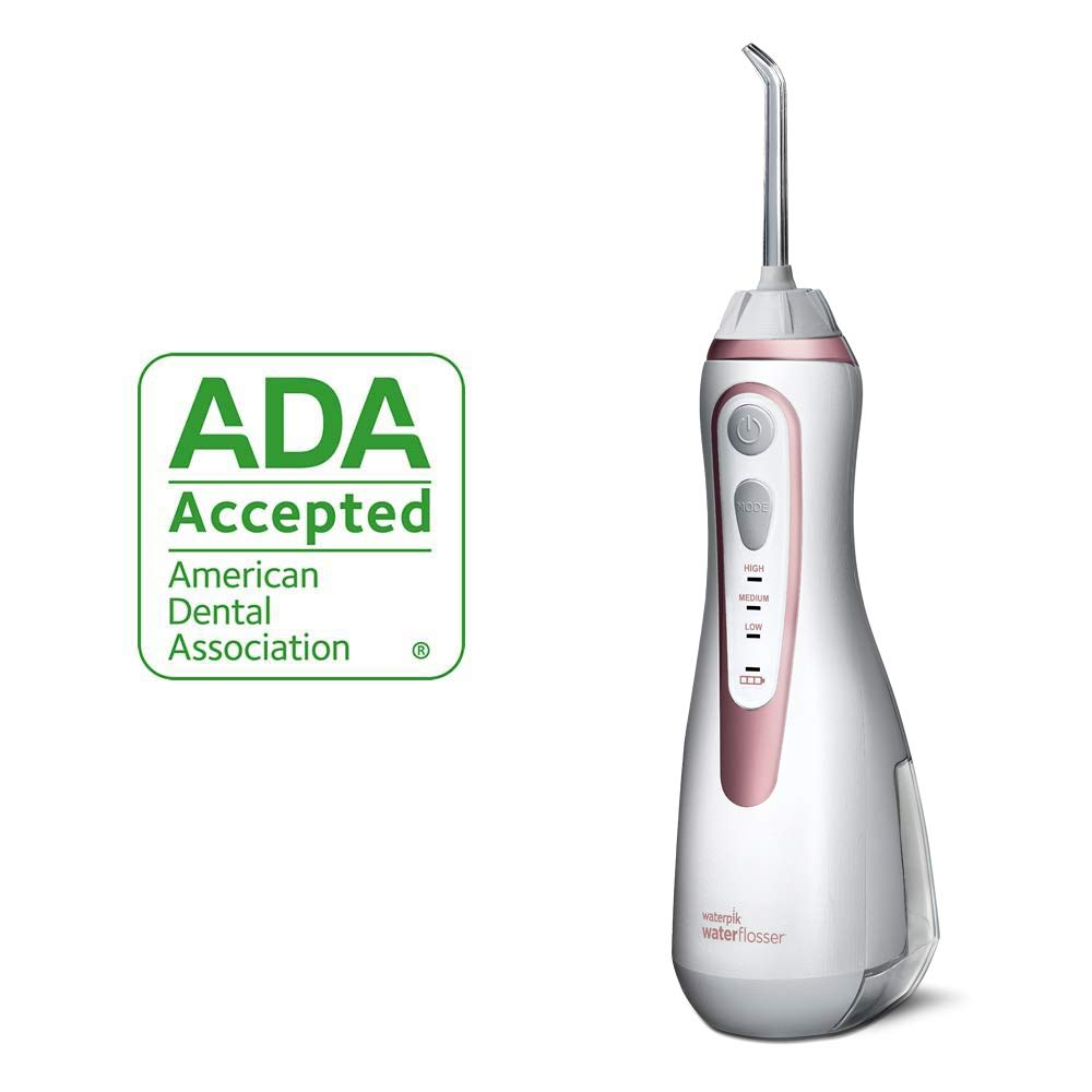 Waterpik Cordless Water Flosser Rechargeable Portable Oral Irrigator For Travel And Home – Cordless Advanced, WP-569 Rose Gold