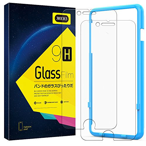 3HEH3 iPhone 8 Plus/7 Plus Screen Protector 9H Hardness HD Tempered Glass for Apple iPhone 8 Plus and iPhone 7 Plus, 5.5-Inch, Tempered Glass Film 2-Pack
