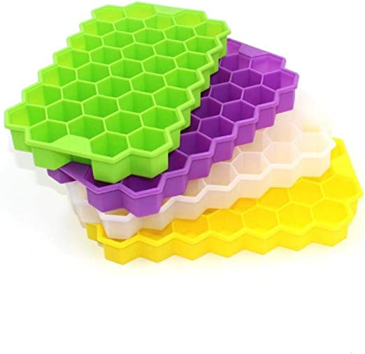 Moldes de silicona para cubitos de hielo Alvar, 37 celdas, panal ...