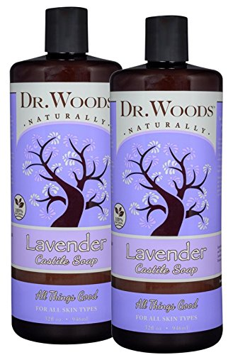 (Dr. Woods Pure Relaxing Lavender Liquid Castile Soap, 32 Ounce (Pack of 2))