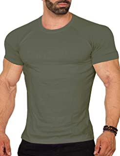 COOFANDY Mens Workout Tee Short Sleeve Gym Training Bodybuilding Muscle Fitness T Shirt