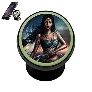 Indian Sword Mage Magnetic Phone Car Mount Holder Noctilucent Mobile Cradle Stand Universal 360 ° Rotating Car Dashboard Support Cell Phone Kit Gadget