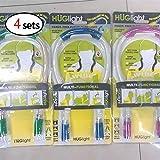 XuBa Neck Hug Night Light Lamp Flexible Adjustable 4 Modes LED Handsfree Reading Book Lamp(4pcs)