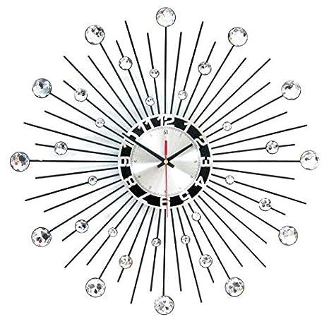 WHLXCQ Relojes De Pared Un Reparto Estelar De Arte Europeo Del Hierro Reloj De Diamantes Moda Personalidad Creativa Reloj Reloj De Silencio: Amazon.es: ...