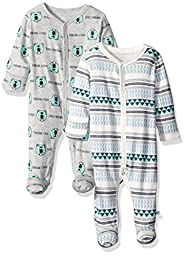 Rosie Pope Baby Coveralls 2 Pack, Heather Gray, 0-3 Months