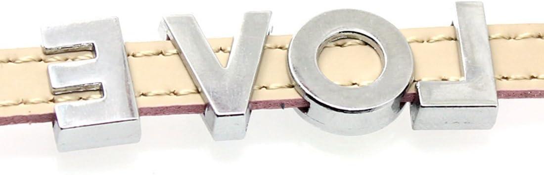 bisuter/ía Pack de 52 piezas A-Z; colores completos brillantes 8 mm Slide alfabeto letras para 8 mm diapositivas pulseras//pulseras