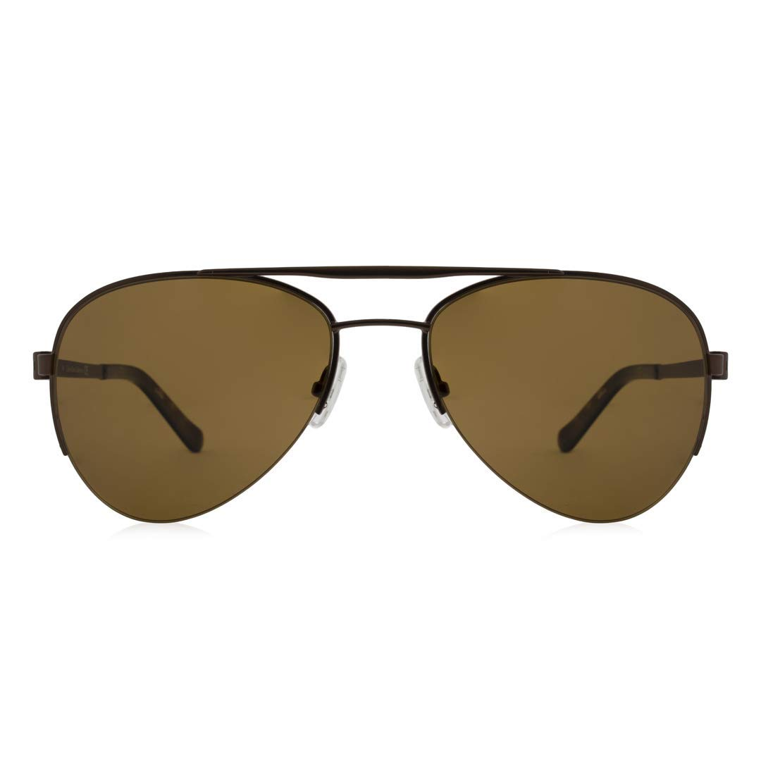 a0aa45ca657b Amazon.com: Calvin Klein Collection Mens Polarized Semi Rimless Aviator  Sunglasses Brown O/S: Clothing